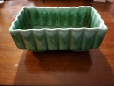 Vintage Judy of California USA Mid-Century Modern Green Rectangle Planter C-7