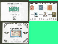 MEXICO 3 different Mint NH Topical Souv Sheets #1385, #C434, #C614 all 3 $3.89