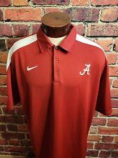 New listing Nike Golf Mens XL Alabama Crimson Tide Maroon White Short Sleeve Golf Polo Shirt