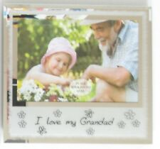 """""""I love my Grandad"""" Frosted Glass Photo Frame 5""""x3.5"""" Gift"""