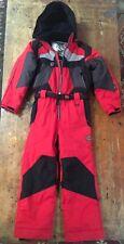 Kids Obermeyer Red Black I-grow Kids Ski Snow Suit Snowsuit Size 8