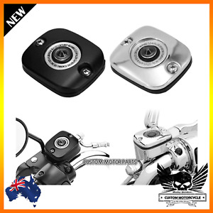 Motorcycle Front Brake Master Cylinder Cover Harley Softail Dyna Fat Boy FLSTF