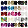 8 inch Big Sequin Hair Bow Alligator Clips Headwear Girls Hair Accessories SRAU
