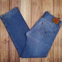 Vintage Levis 501 Jeans Straight Leg Button Blue W34 L34