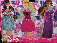2012 BARBIE FASHIONISTAS SET OF 3  PARTY DRESSY BARBIE FASHIONS #X2235