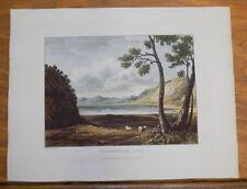 1821 Print, Aquatint Tour of English Lakes///BASSENTHWAITE LAKE