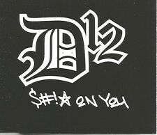 eminem mit d12 d 12 sh * t on you instrumnetal & video mit aufkleber cd single versiegelt