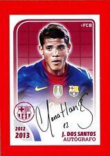 FC BARCELONA 2012-2013 Panini - Figurina-Sticker n. 128 - SANTOS AUTOGRAFO -New