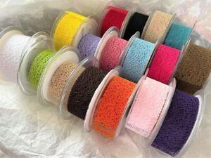 Eleganza MESH Web Net Ribbon Christmas Halloween - 17 colours  38mm - 4 lengths