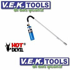 HOT DEVIL BUTANE / MAP GAS SUPER BLOW TORCH WEED KILLER --WEEDS-GARDEN-