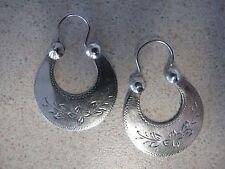 Russian Soviet Gypsy Silver Earrings stamp 875 vintage Цыганские серьги серебро