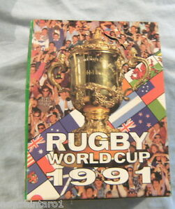 #HH.  1991 RUGBY UNION WORLD CUP CARDS COUNTER DISPLAY BOX - REGINA