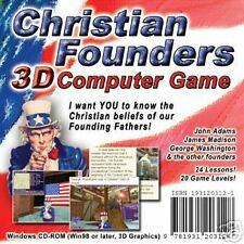 Christian Founders:3D Adventure Game 4 PC,New, American Heritage, Education Fun!