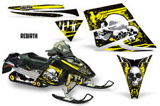 SIKSPAK Sled Wrap Ski Doo Rev Snowmobile Graphic Kit 2003-2007 REBIRTH YELLOW