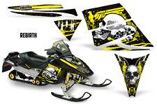 SIKSPAK Sled Wrap Ski Doo Rev Snowmobile Graphic Kit 2003-2007 REBIRTH YELLOW