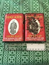 Lot Of Two Vintage Antique Prince Albert Tobacco Tins Free Shipping