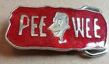 Buckle 1989 Lee Rare Pee Wee Herman Red Belt