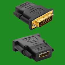 HDMI HEMBRA A Dvi-d Adaptador macho, conector Enchufe 1080p TV PC Portátil