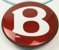 BENTLEY CONTINENTAL WHEEL CENTER CAP x1 with Bentley Motors Emblem GENUINE NEW k