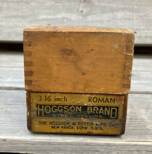 Antique Hoggson Brand  Steel Stamps