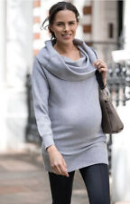 Women's Séraphine Convertable Shoulder Knitted  Maternity Tunic Size S (Squ 34)