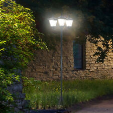 Outsunny Outdoor Garden Solar Light with Base Energy-efficient IP44 Dimmable