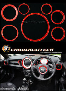 MK2 MINI Cooper/S/One R55 R56 R57 R58 R59 RED Dashboard Interior Ring Kit
