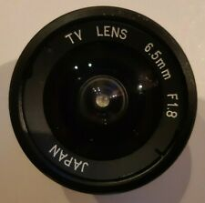 TV LENS 6.5mm f/1.8  C-Mount (M25) MADE IN JAPAN  USATO