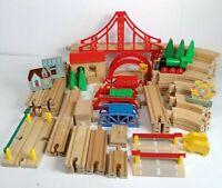 Wooden Train Bundle Track Scenery Vehicles Spares BRIO BigJigs ELC Compatible