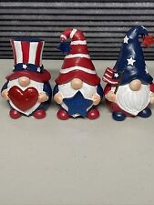 Fourth Of July Decor Gnome 4 Inches tall😀 Three In this Set