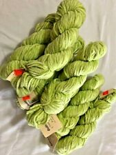 Crystal Palace Cotton Chenille, Color 1240 New 7 Skeins Lime Green