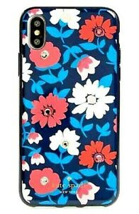 NEW NIB KATE SPADE JEWELED DAISY BLUE MULTI COMOLD IPHONE X SNAP ON CASE COVER