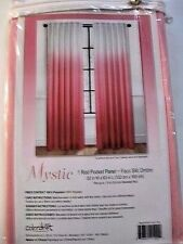 """NEW Mystic Pink Faux Silk Pink Ombre 63"""" L Curtain Panel FREE SHIPPING"""