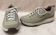 Skechers Shape Ups Women 9 Tan Nubuk Leather Walking Work Toning Sneaker Shoes