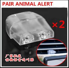 2Pcs ABS Clear 2 Holes Safety For Driver Car Sonic Deer And Animal Whistle Alert