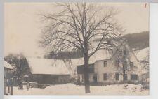 (112550) Foto AK Wohnhaus mit Scheune, Winter, Stempel Jena 1912