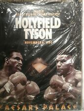 Mike Tyson vs Holyfield signed Cesars Palace fight poster