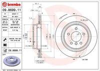 Disc Brake Rotor-Premium UV Coated OE Equivalent Rotor Rear Left Brembo