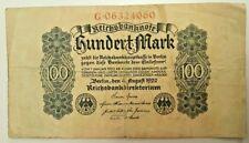 GERMANY  100 Mark 1922       Reichsbanknote
