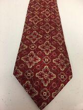 Saks Fifth Avenue Imported Red Silk Men's Neck Tie