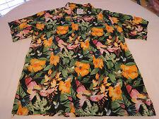 Mens Guy Harvey Bluewater wear shirt button up short sleeve L black multi GUC @