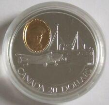 Kanada 20 Dollars 1993 Flugzeuge Lockheed 14 Super Electra Silber