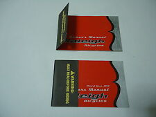 Raleigh Bicycles 2002 Owners Manual Bikes lot of 2