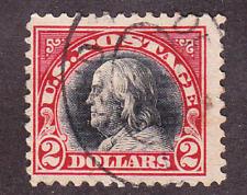 US Scott 547 old $2 Franklin issue U/VF CV $40