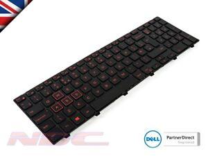 NEW Dell Inspiron 15-7557/7559 UK ENGLISH Backlit RED Keyboard - 06DJRW