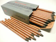 """CARBON ARC RODS for 35mm FILM PROJECTION - 1 BOX of  11mm x 9"""" NATIONAL NEGATIVE"""