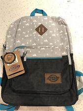 NWT! Backpack Dickies Study Hall School College Bag Work Laptop Sleeve Grey/Blue
