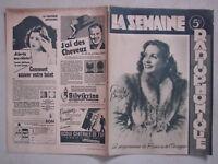 COUVERTURE LA SEMAINE RADIOPHONIQUE année 1947 - GISÈLE PASCAL - Studio HARCOURT