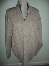 Carraig Donn Cavo Aran Jumper made in Irlanda Taglia XL 100% LANA A247 181 * BNWT *