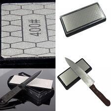 Double Dual Sided Sharpener Diamond Blade Sharpening Stone Whetstone 400# 1000#